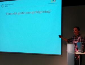 Anders Edvardsson  presenterade Energikontoret Skånes verksamhet.