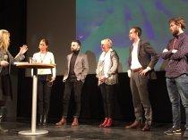Samtliga talare för det första passet och dagens moderator. (bild hämtad från twitter)