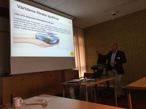 Sten ger oss en presentation om Region Skåne och CSK